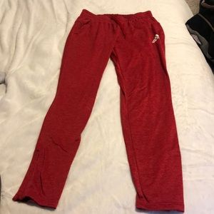 Red women's fit Adidas Sweatpants